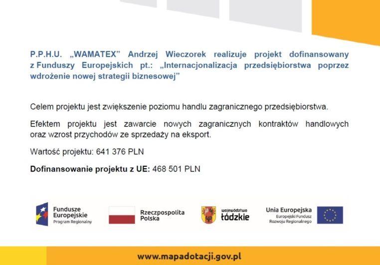 Plakat WAMATEX AW - RPLD.02.02.01-10-014719-00